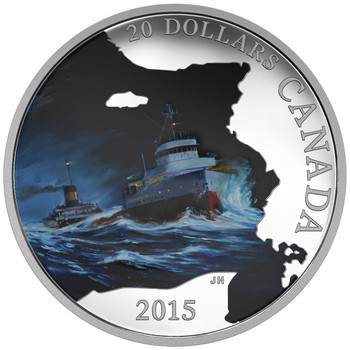 2015 $20 FINE SILVER COIN LOST SHIPS IN CANADIAN WATERS: S.S. EDMUND FITZGERALD