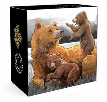2015 $200 PURE GOLD COIN GRIZZLY BEAR: THE CLAN