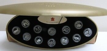 1999 STERLING SILVER PROOF MILLENNIUM SET