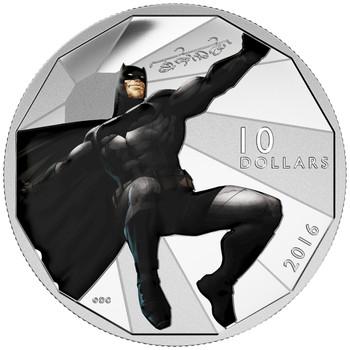 2016 $10 FINE SILVER COIN BATMAN V SUPERMAN: DAWN OF JUSTICE™ - BATMAN™