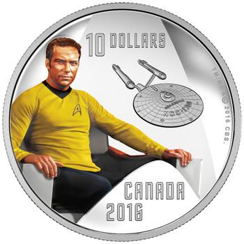 2016 $10 FINE SILVER COIN STAR TREK™: CAPTAIN KIRK