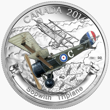 2016 $20 FINE SILVER COIN – AIRCRAFT OF THE FIRST WORLD WAR SERIES: THE SOPWITH TRIPLANE