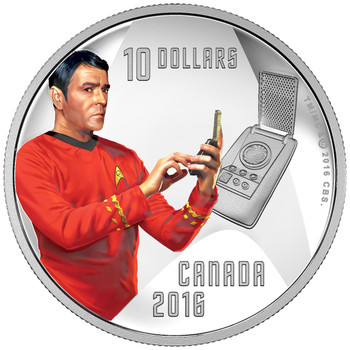 2016 $10 FINE SILVER COIN STAR TREK™: SCOTTY