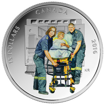 2016 $15 FINE SILVER COIN NATIONAL HEROES: PARAMEDICS