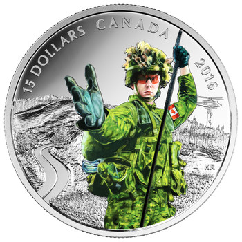 2016 $15 FINE SILVER COIN NATIONAL HEROES: MILITARY