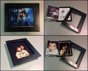 PIctured 8x10 'Folio in our most popular and recomendedMarbleized Black finish.