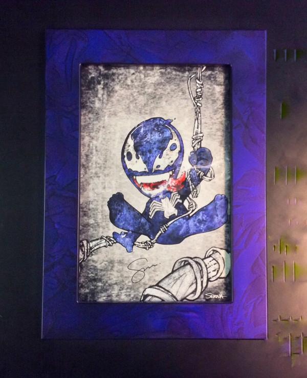 MARBLEIZED METALLIC BLUE W/ ART BY FRANKIE SERNA  (NOT INCLUDED )