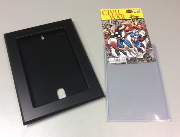 Load your favorite comic book into provided standard protective toploader.
