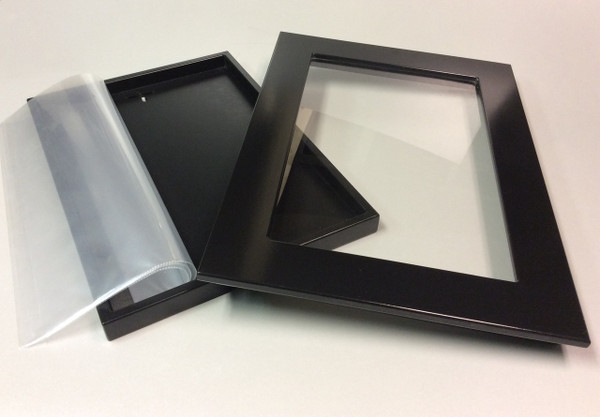 'Folio Frame includes 10 clear page protectors