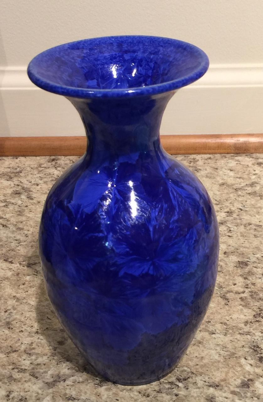 Phil morgan crystalline jenn blue vase ashleys art gallery jenn blue floridaeventfo Image collections