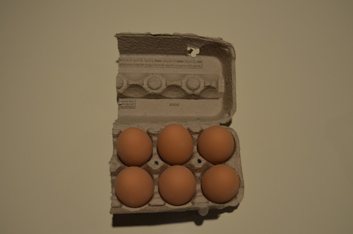 6 -  Brown Ceramic Nest Eggs in Grade A Large 1/2 Carton