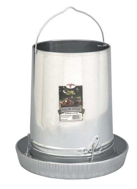 30 LB Hanging Metal Poultry Feeder by Little Giant