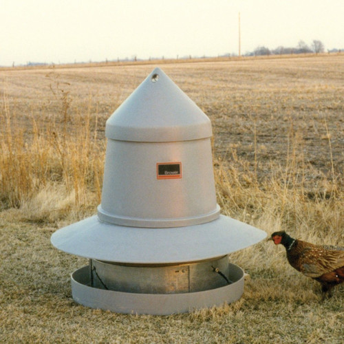 Brower-GBF-175-Range-Feeder-for-Gamebirds-Free-Range Pastured Poultry
