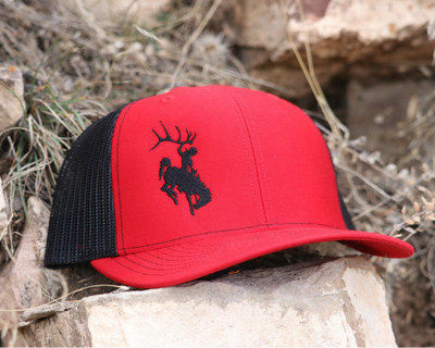 Red & Black Bucking Horse