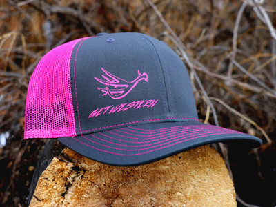 Get Western Muley Shed Hat - Grey/Pink