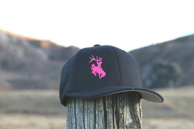Youth Flexfit  Black & Pink