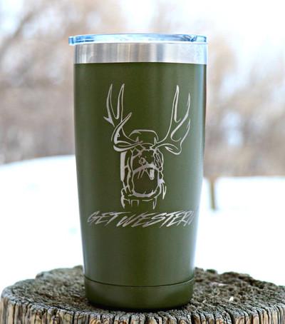 Get Western Mule Deer Pack Insulated Cup - 20 oz.