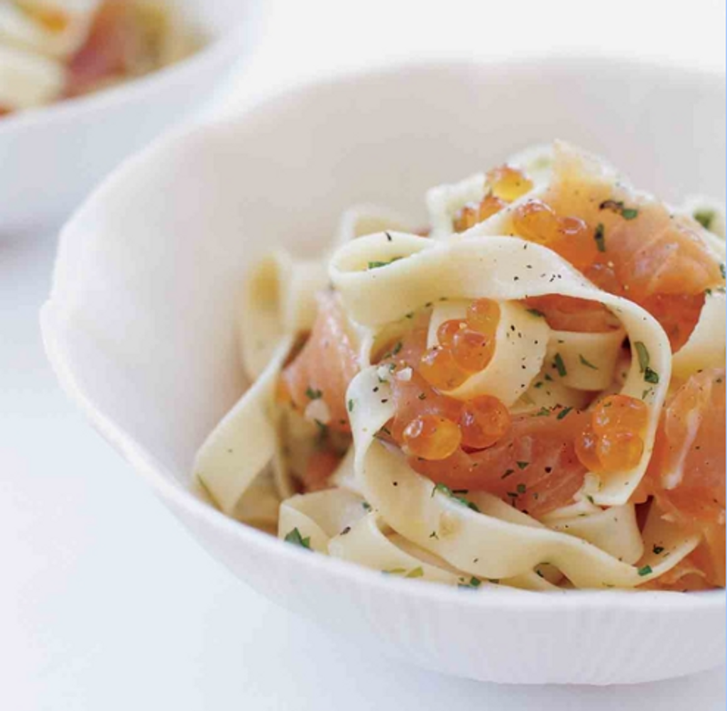 Caviar Recipes - Pasta with Salmon Caviar