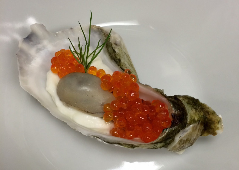 Caviar Star Recipe #12 - Champagne Poached Oysters with Smoked Steelhead Caviar