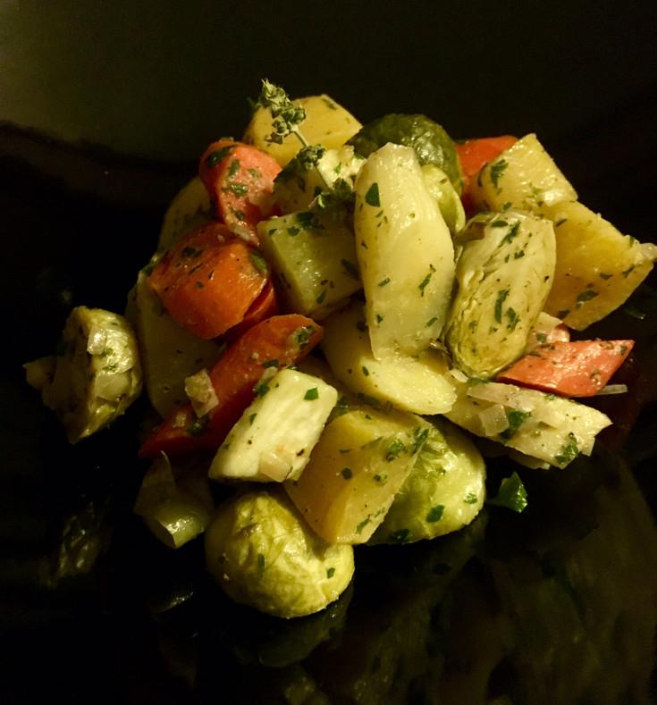 Caviar Star Recipe #19 - Roasted Root Vegetables with White Balsamic Vinaigrette
