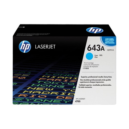 HP 4700 643A Cyan Toner Cartridge - New