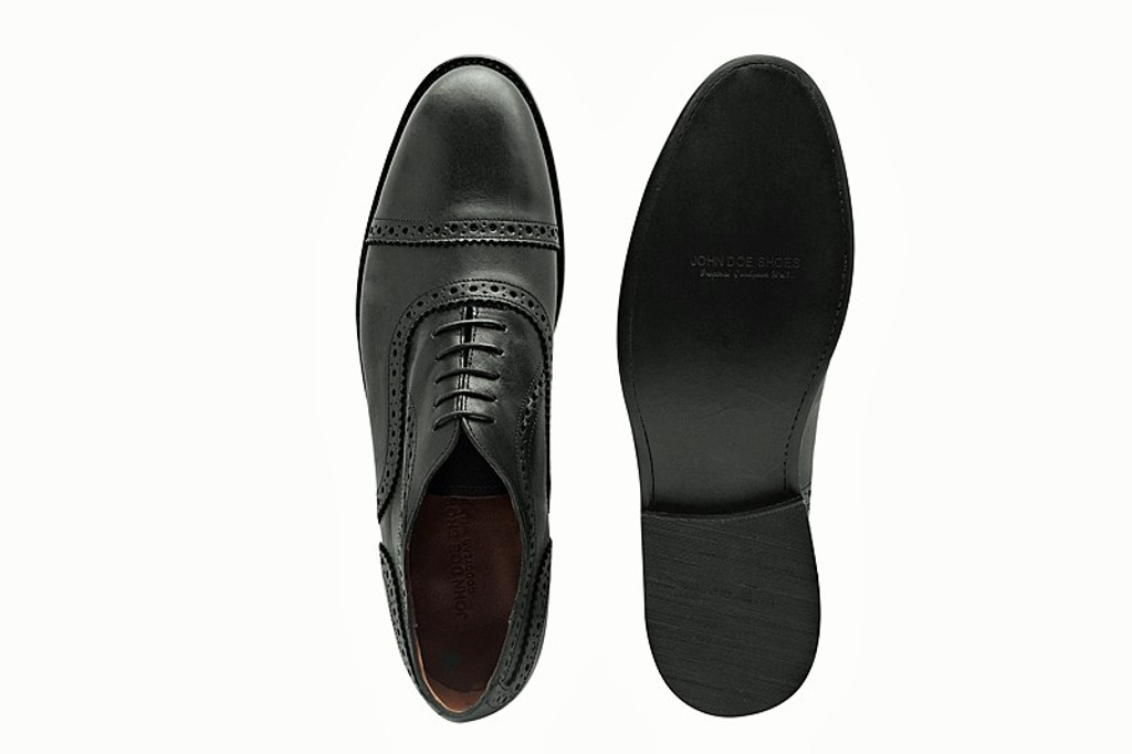 BLACK BOX CALF BENN OXFORD