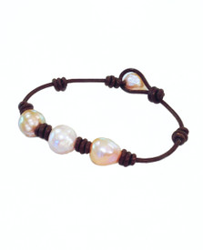 Our Island Bracelet get the same look as  south sea pearl versions that cost in the thousands!