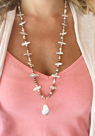 Baroque Pearl Pendant and Crazy Pearl Necklace