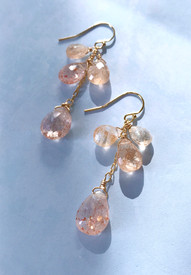 Sunstone cascade earrings