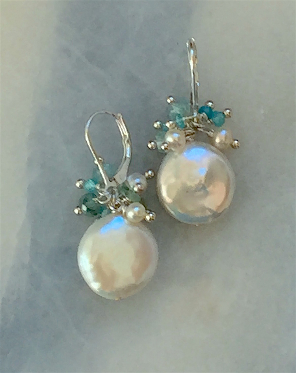 jewelry and larimar creations cloud galleries pearl with gemstone apatite drop earrings accents white blue handcrafted