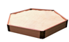 Hexagon Wooden Sandbox Kit 3