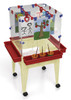 "Childbrite Youth 4 Station Space Saver Easel w/9"" deep clear tub 2"