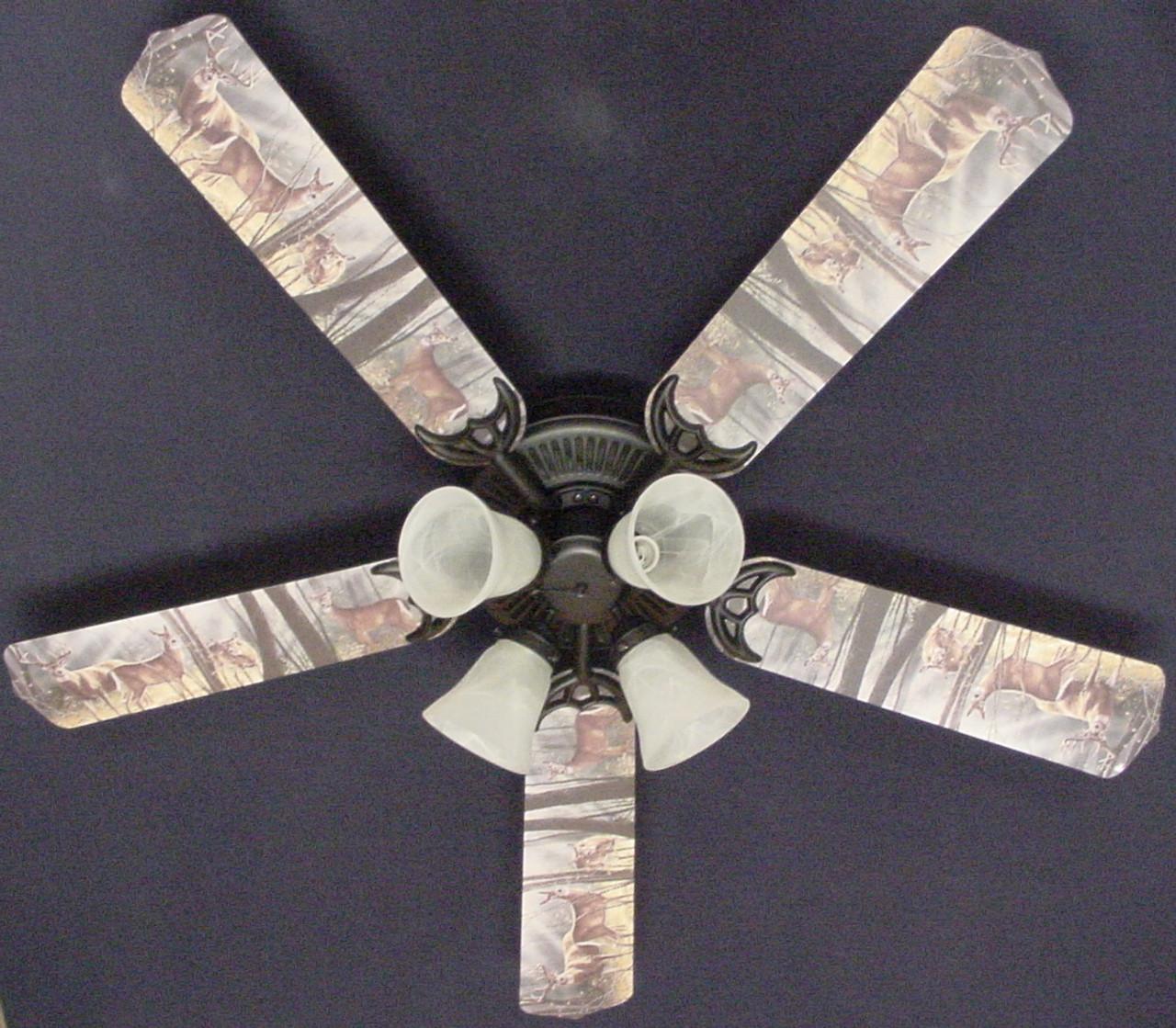 Deer buck doe hunting ceiling fan 52 ceiling fans kids room decor deer buck doe hunting ceiling fan 52 1 aloadofball Gallery