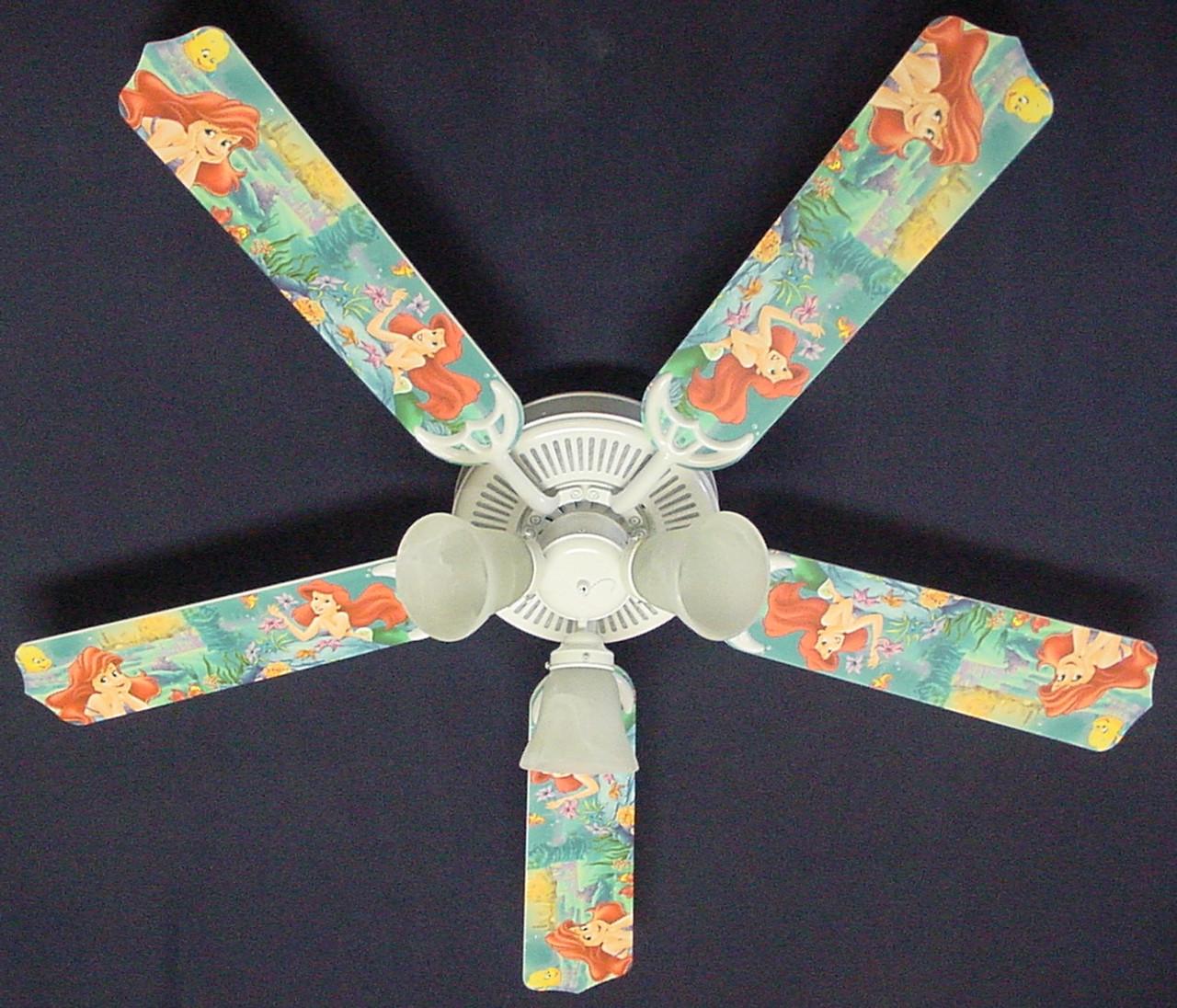 Disney Little Mermaid Ariel Ceiling Fan 52 1