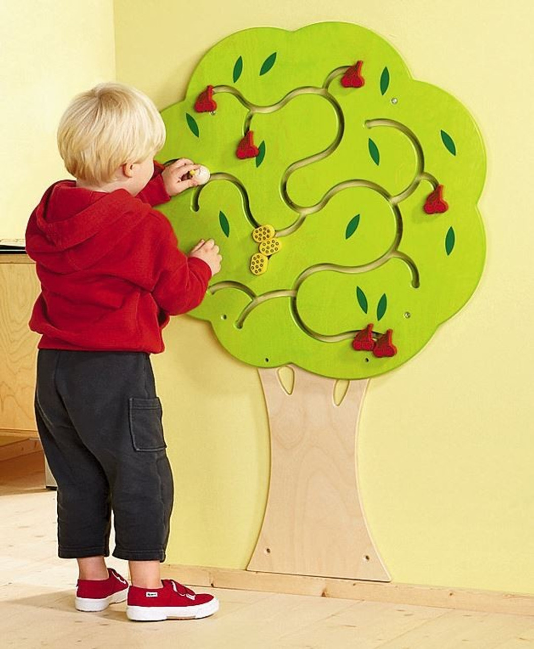 Cherry Tree Wooden Play Wall Decoration, 120183 | Wall Panel Toys