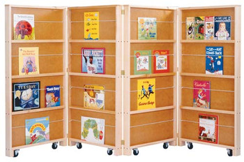Jonti-Craft Mobile Library Bookcase - 4 Sections 1