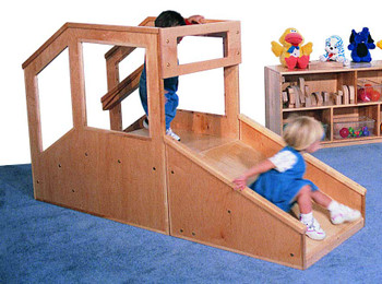 Step 'n Slide Deluxe Infant/Toddler Mini Loft 1