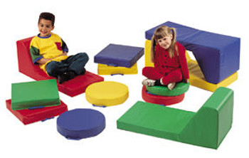 Children's Factory Square Floor Cushion with Handle 1