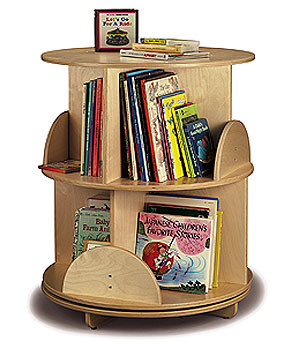 Whitney Brother Two-Shelf Book Carousel Wooden Child Bookcase 1