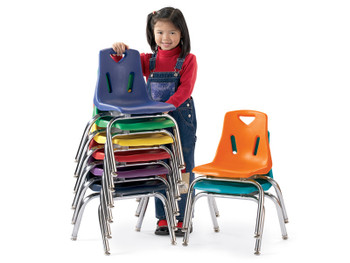Jonti-Craft Plastic Classroom Chairs with Metal Legs 1