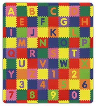"""Alpha Numeric Soft Safe Play Area Floor Set - 8'6'' x 9'6'' x 5/8"""" 1"""