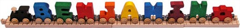 Maple Landmark Wooden Name Train - Primary Colors 1