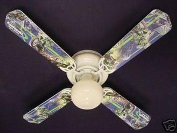 """Motocross Kawasaki Ceiling Fan 42"""" 1"""