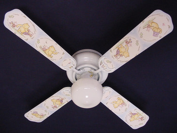"Classic Winnie Pooh Blue Ceiling Fan 42"" 1"