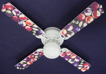 "Billiards Pool Balls Ceiling Fan 42"" 1"