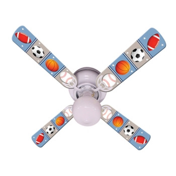 "Kids Play Ball Ceiling Fan 42"" 1"