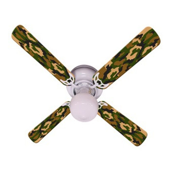 Camoflauge Green Ceiling Fan 42""