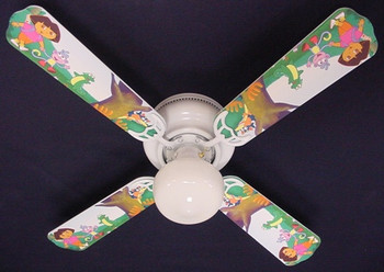 "Dora The Explorer & Boots Ceiling Fan 42"" 1"