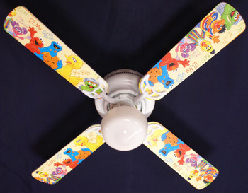 "Sesame Street Elmo Big Bird Ceiling Fan 42"" 1"