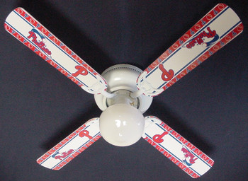 "MLB Philadelphia Phillies Baseball Ceiling Fan 42"" 1"